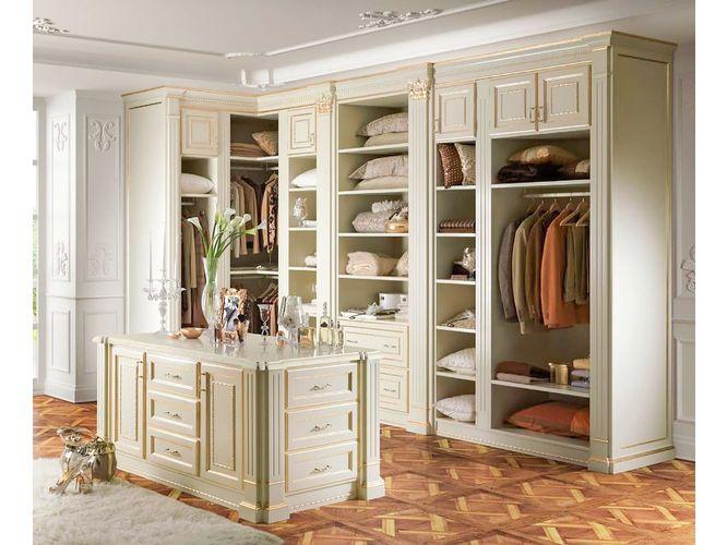 Угловая гардеробная Артикул  в классическом стиле