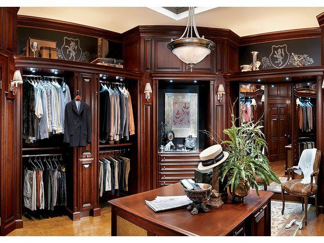 Угловая гардеробная Комплимент в классическом стиле