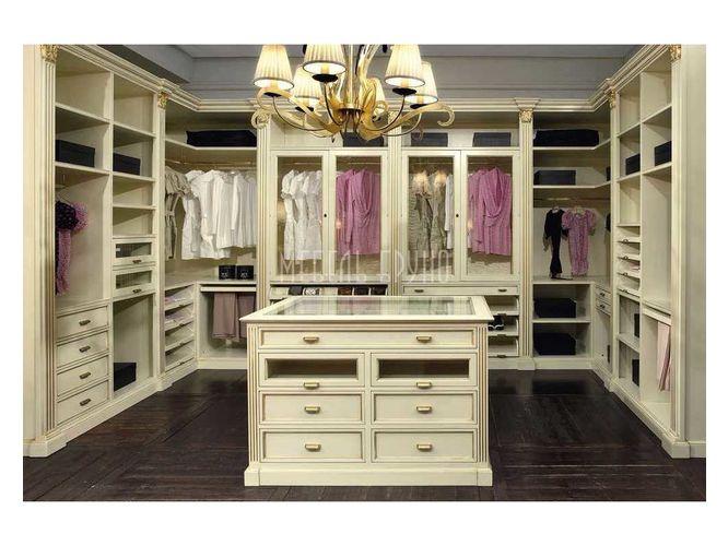 П-образная гардеробная Резерв в классическом стиле
