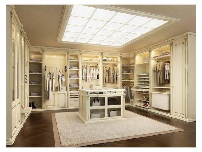П-образная гардеробная Холли в классическом стиле