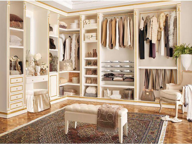 Угловая гардеробная Асуна в классическом стиле