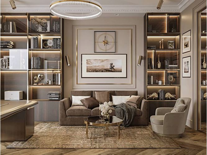 Прямая гостиная Рейхан в стиле модерн