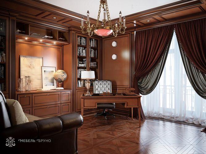 Кабинет Аквамарин в классическом стиле