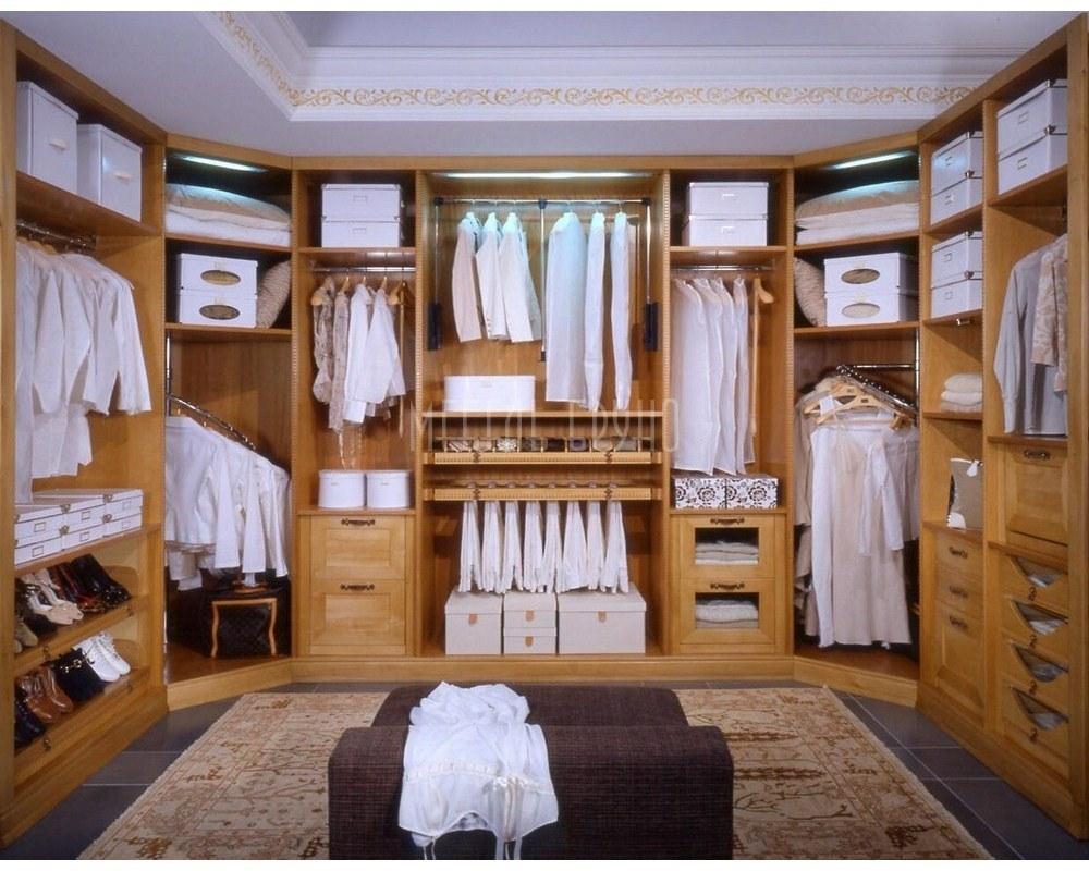 П-образная гардеробная Тулумба  в классическом стиле